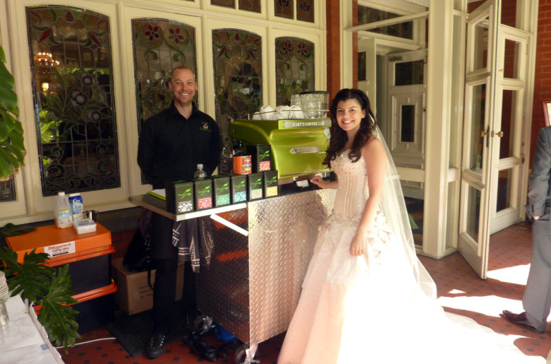 coffee cart hire wedding