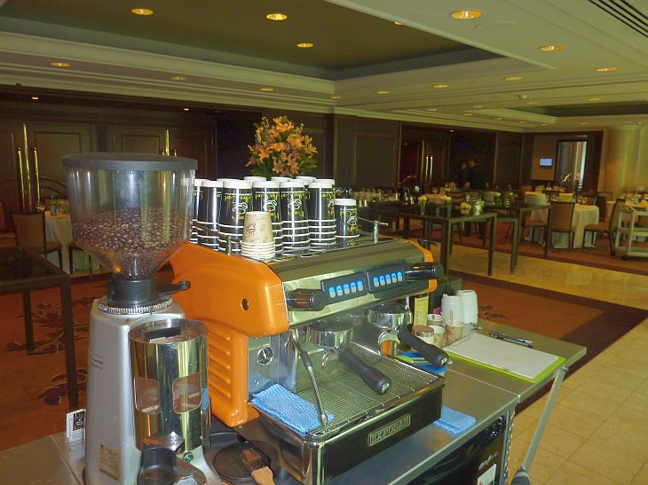 Coffee Cart Hire at Langham Hotel Melbourne