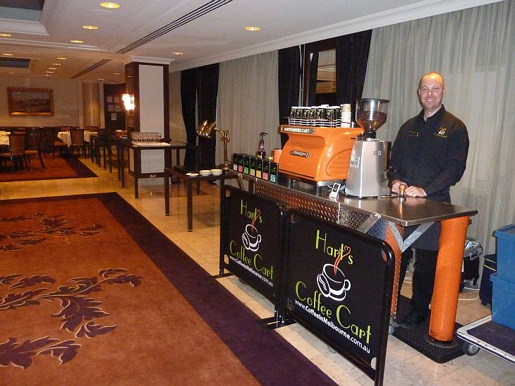 Coffee Cart Hire Langham Hotel Melbourne