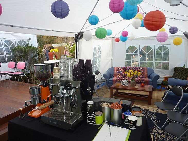 coffee cart at melbourne wedding