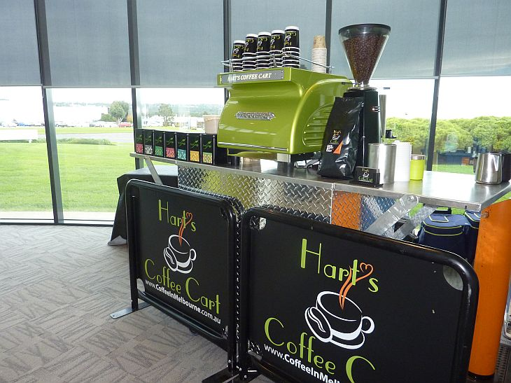 mobile coffee cart for hire