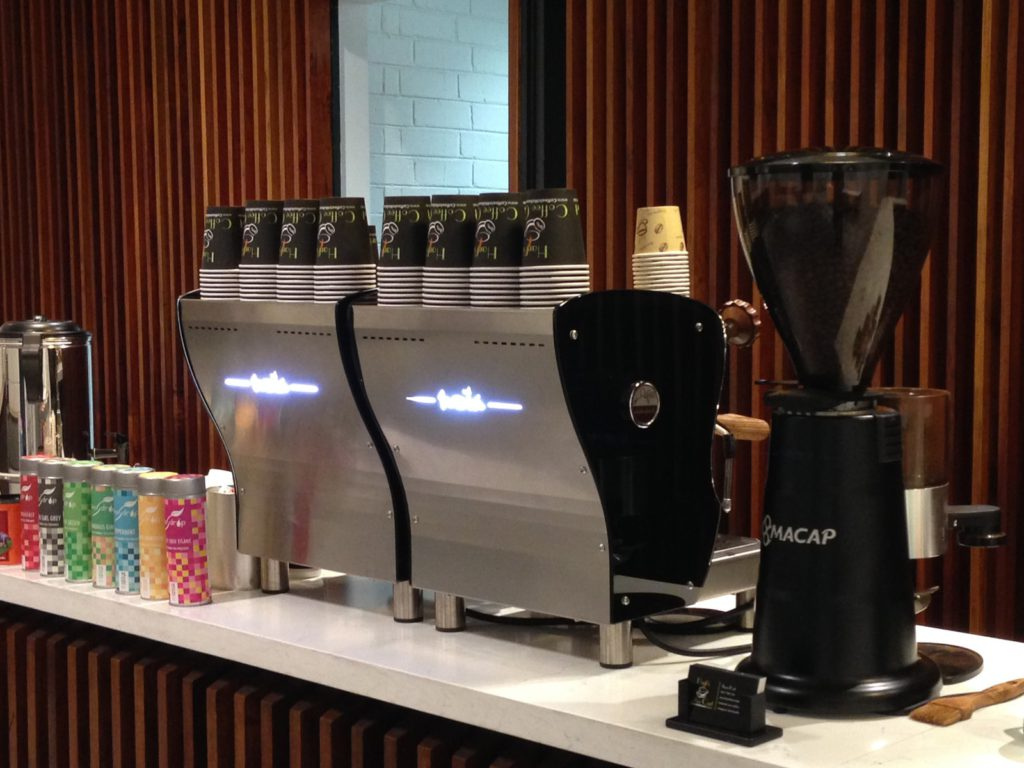Two orchestrale nota coffee machines